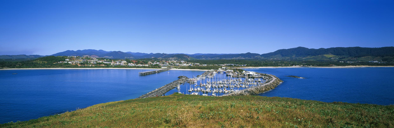 View of Coffs Harbour Marina from Muttonbird Island